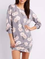 Charlotte Russe Floral Sweatshirt Dress