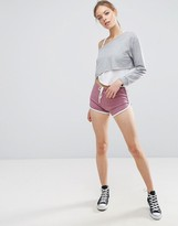 Asos Basic Runner Shorts With Contrast Binding