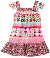 Trixxi Twin Printed Flutter Sleeve Dress (Big Girls)
