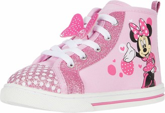 Josmo Girls Minnie Mouse Canvas Sneaker (Toddler/Little Kid)
