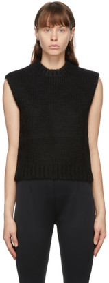 we11done Black Knit Sweater Vest