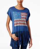 American Rag Fringe Flag Graphic T-Shirt, Only at Macy's