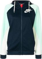 Nike colour-block hooded sweatshirt