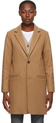 A.P.C. Beige Wool Carver Coat