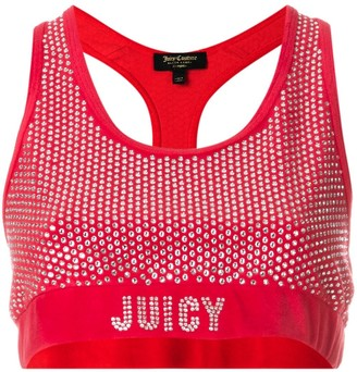 Juicy Couture Swarovski embellished velour crop top