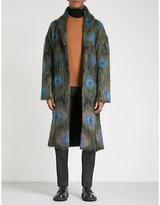 Alexander Mcqueen Peacock Mohair-blend Coat