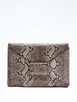 Banana Republic Italian Leather Snake Bow Clutch