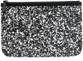 Pierre Hardy splatter print zipped clutch - women - Calf Leather - One Size
