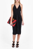 Martin Grant Tie Front Spotted Dress