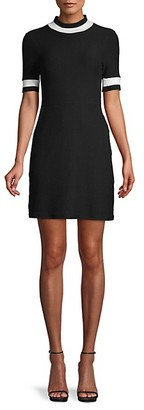French Connection Textured Cotton-Blend Mini Dress