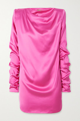GAUGE81 Pisa Ruched Satin Dress - Fuchsia