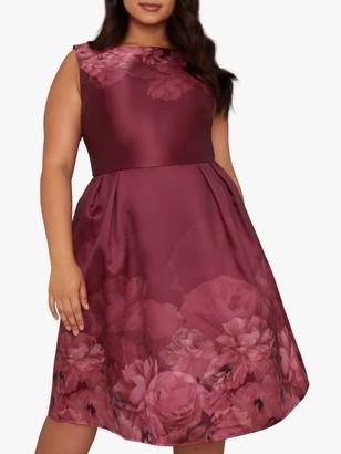 Chi Chi London Curve Sady Floral Dress, Pink/Multi