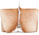 Akris Genuine Python & Springbok Fur Shoulder Bag - Beige