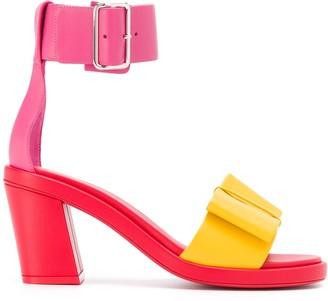 Comme des Garcons Colour-Block Leather Sandals