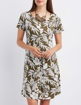 Charlotte Russe Floral Pleated Shift Dress