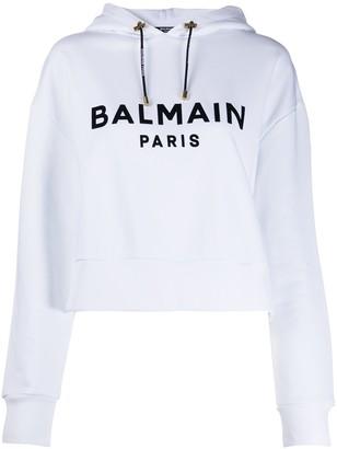 Balmain Logo-Print Hoodie