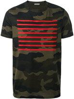 Moncler red stripe T-shirt - men - Cotton - XL
