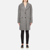 Carven Women's Oversized Two Buttoned Coat White/Black