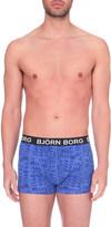 Bjorn Borg Forms print stretch-cotton trunks