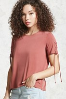 Forever 21 Lace-Up Grommet Tee