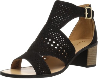 Qupid Women's Wood Heel Sandal Heeled