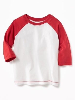 Old Navy Unisex Raglan-Sleeve Baseball Tee for Toddler