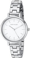 Karen Millen Women's Quartz Brass-Plated and Stainless Steel Dress Watch, Color:Silver-Toned (Model: KM126SM)