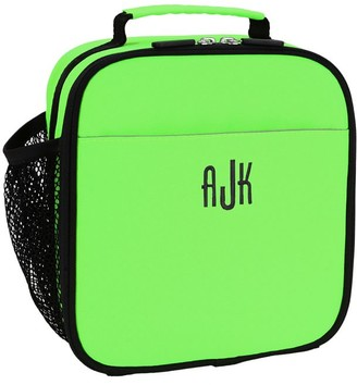 Pottery Barn Teen Gear-Up Neon Green Solid Recycled Lunch Box
