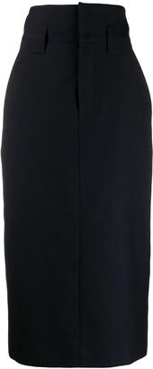Fendi Tailored Checked Pencil Skirt