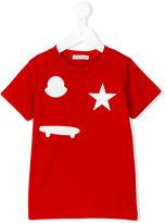 Moncler skate T-shirt - kids - Cotton/Polyester/Polyurethane - 12 yrs