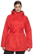 Columbia Plus Size Spring Run Hooded Trench Jacket