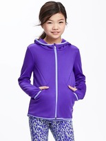 Old Navy Go-Dry Cool Full-Zip Hoodie for Girls