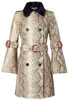Banana Republic x Olivia Palermo | Italian Snake-Effect Leather Trench Coat