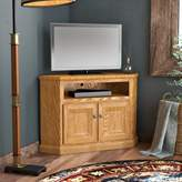 Loon Peak Lapierre Solid Wood Corner TV Stand for TVs up to 55 inches Loon Peak Color: Dark Oak