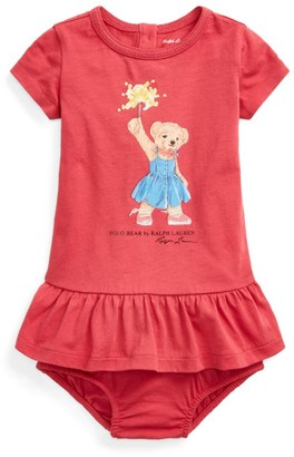 Ralph Lauren Kids Sparkler Polo Bear Dress (3-24 Months)