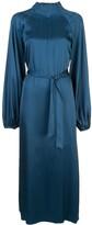 Rochas belted silk dress