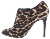 Lanvin Ponyhair Pointed-Toe Booties