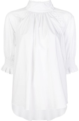 ADAM by Adam Lippes stand-up collar blouse