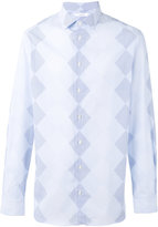 Joseph John-Argyle diamond striped shirt - men - Cotton - 39