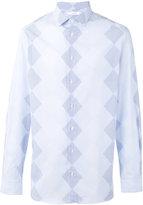 Joseph John-Argyle diamond striped shirt