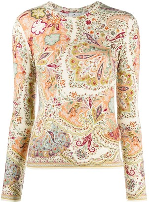Etro Long Sleeved Paisley Top