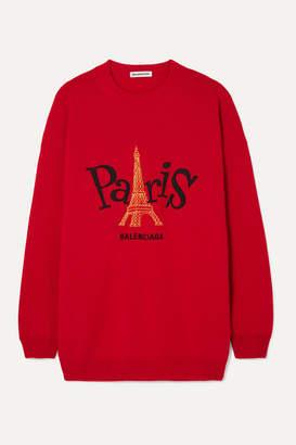 Balenciaga Embroidered Cashmere Sweater - x small