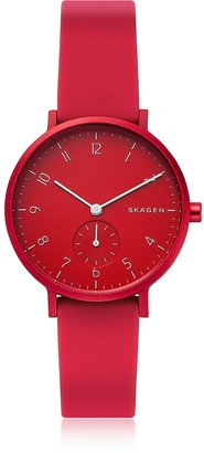 Skagen Aaren Kulor Red Silicone 36mm Watch