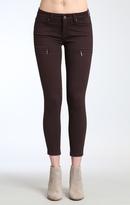 Mavi Jeans Karlina Zip Skinny In Wine Twill