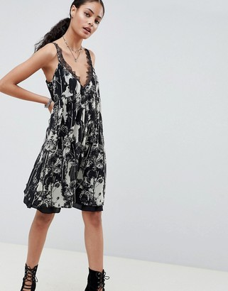 Religion Neo Slip Dress in Virginia Print