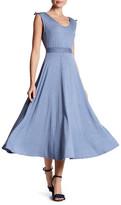 Max Studio Sleeveless Waist Detail Dress
