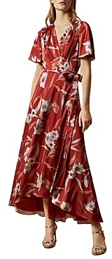 Ted Baker Errika Cabana Print Dip Hem Wrap Dress