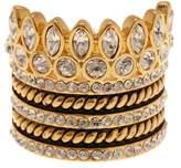 BaubleBar Bezel Set Crystal Ring Stack