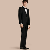 Burberry Modern Fit Wool Mohair Half-canvas Tuxedo , Size: 52r, Black