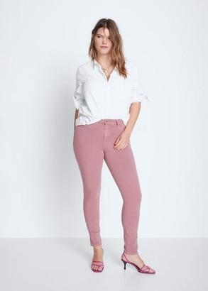 MANGO Violeta BY Jeans Bi-Stretch push-up Irene light/pastel purple - 10 - Plus sizes